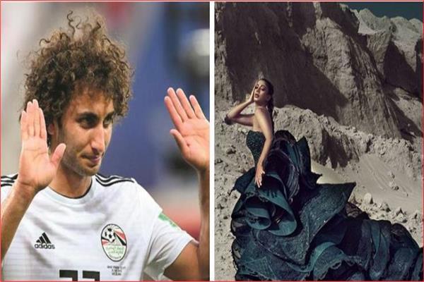نتيجة بحث الصور عن عمرو وعارضة الازياء
